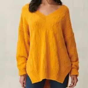 Lucky Brand Braided Oversized Knit Sweater